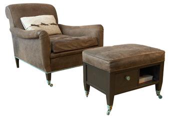 Uwe van Affdern - Sessel mit Hocker