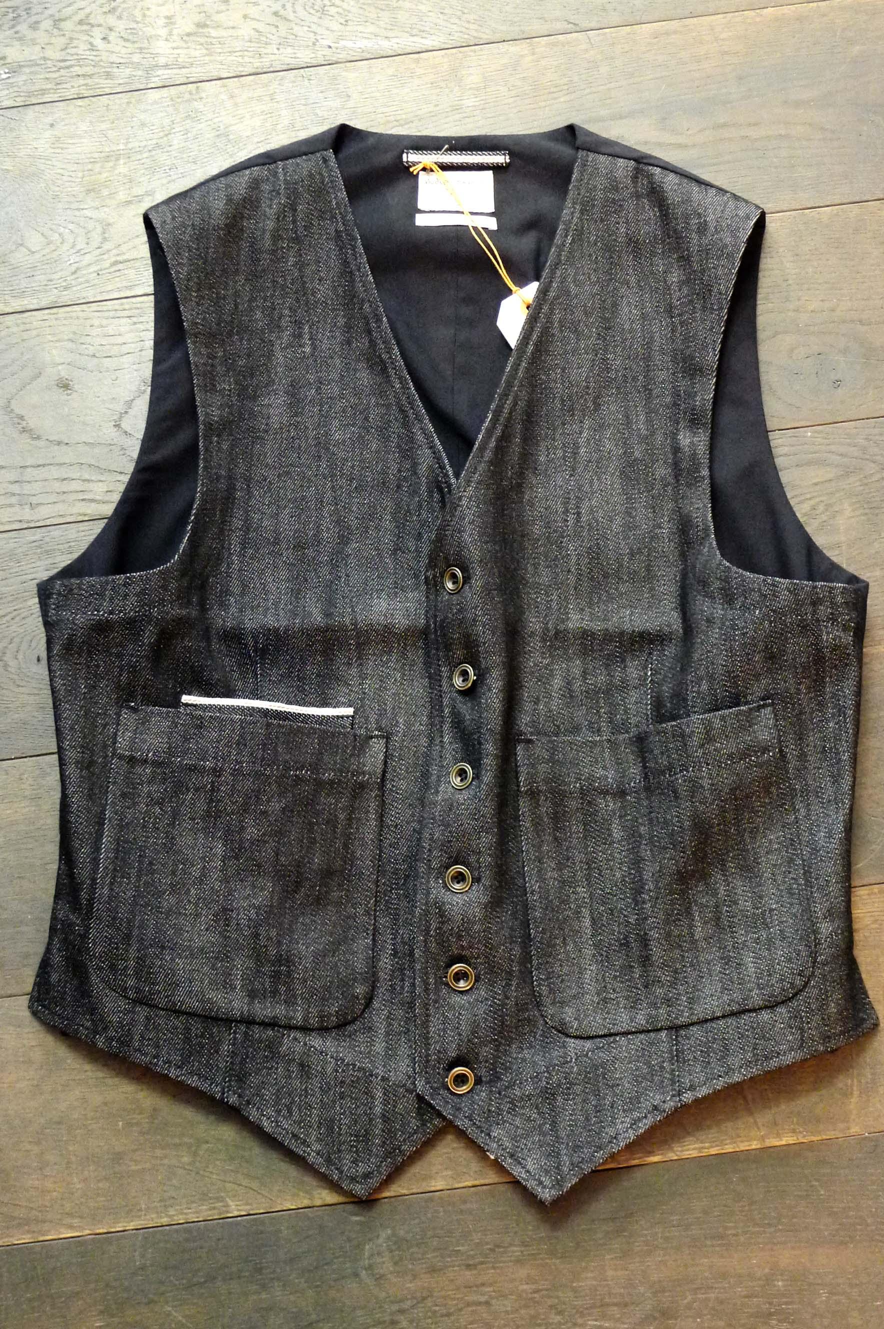 denim grau nudie jeans weste nudie jeans weste uwe van afferden shop m nnerkaufhaus. Black Bedroom Furniture Sets. Home Design Ideas