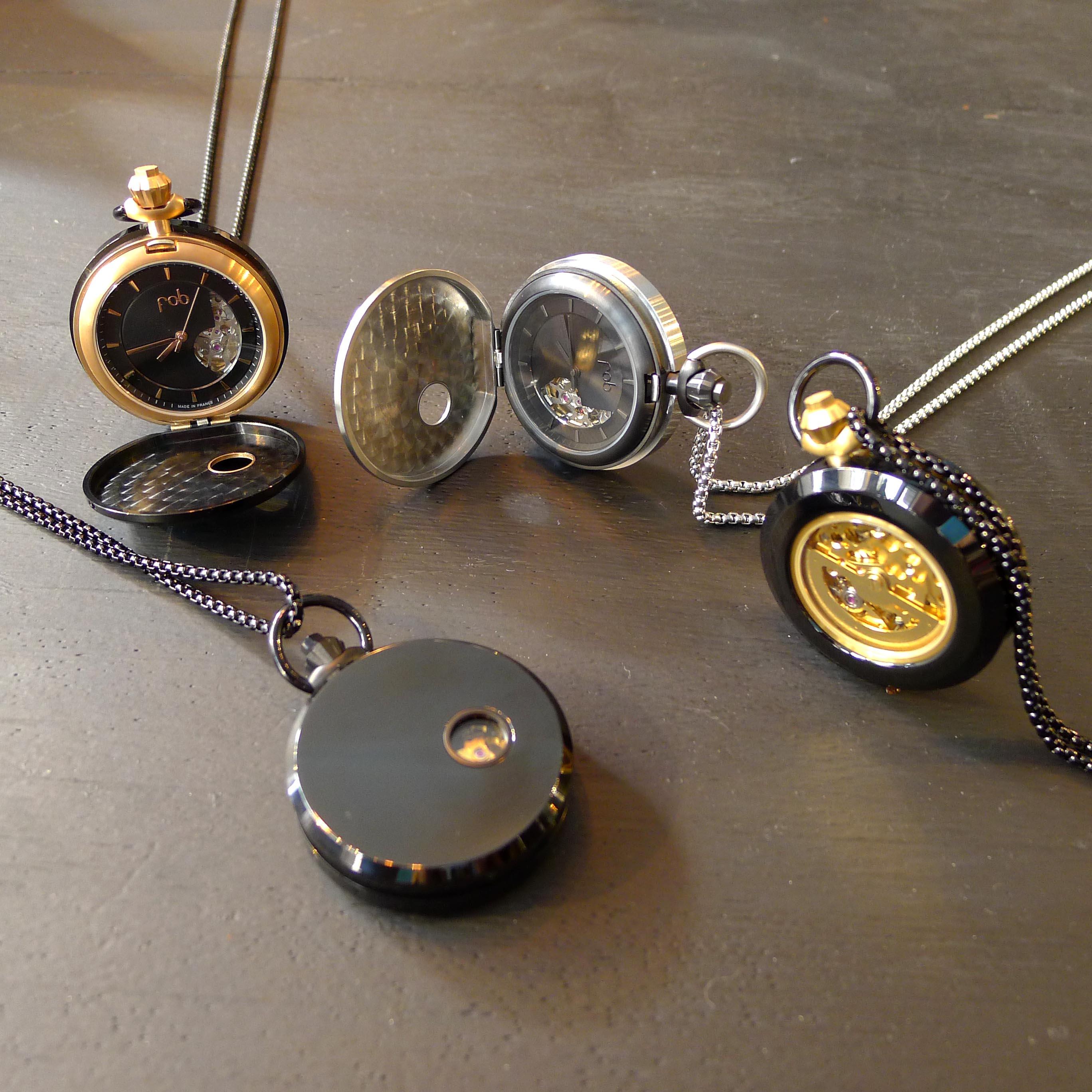 Taschenuhren modern  AUTOMATIK, EDELSTAHL, FOB, GOLD, kupfer, MECHANISCH, schwarz ...