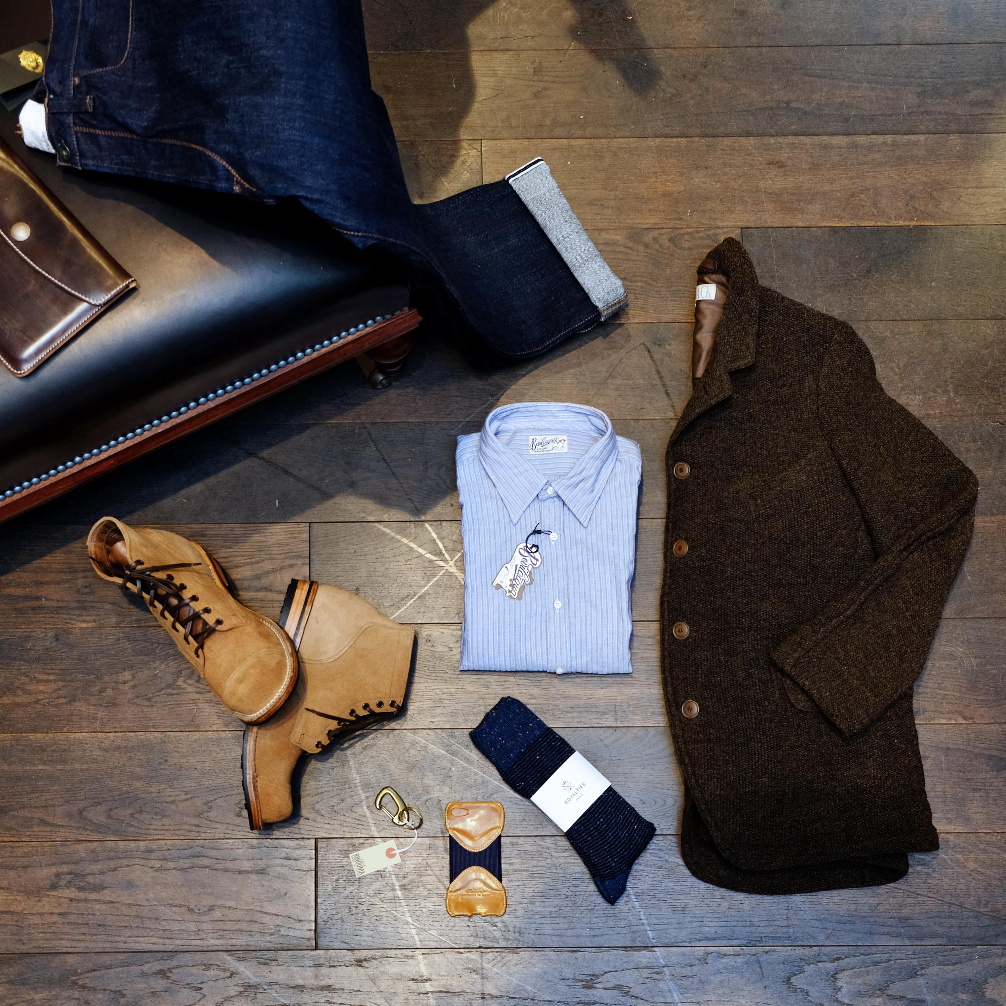 alltag-outfit-haversack-jacke-blacksign-jeans-bevilacqua-viberg-royalities-timelessleather-roberu