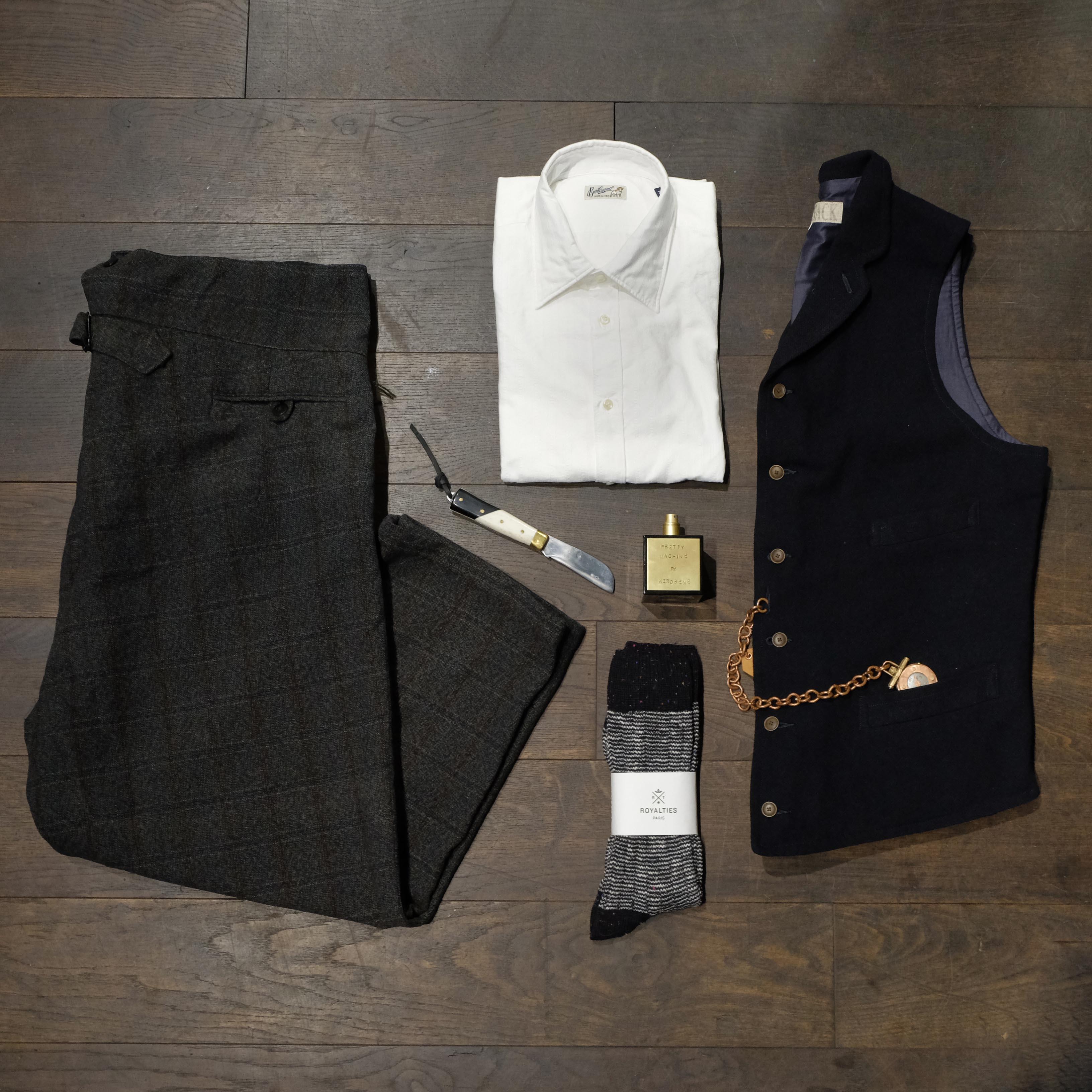 outfit-vintagehose-bevilacqua-maxpoglia-haversack-taschenuhr