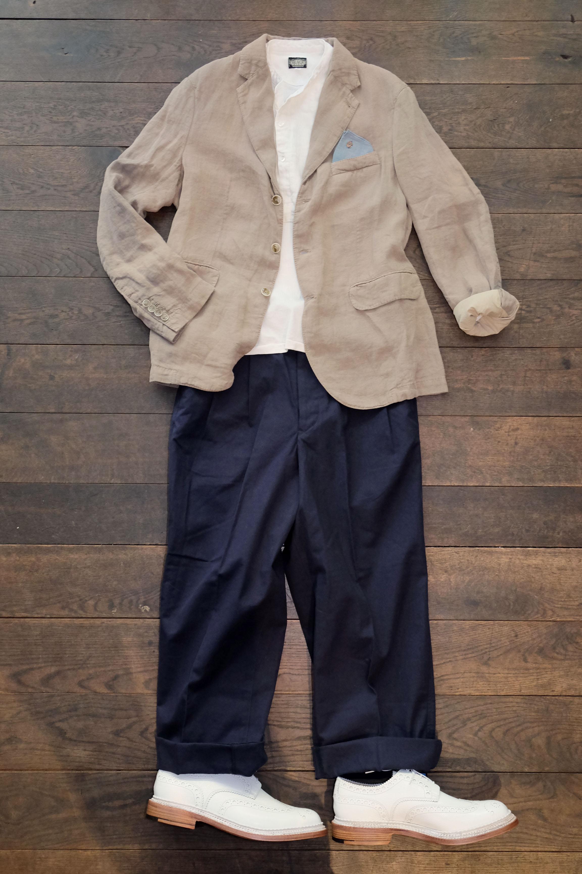 outfitderwoche-man1924-sakko-leinen-haversack-chino-blacksign-hemd-grenson-schuhe-triplewelt