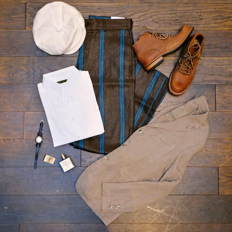 giabs-leinenhose-blacksign-hemd-man1924-sakko-viberg-boot-vintage-kerosenefragrance-gallamini