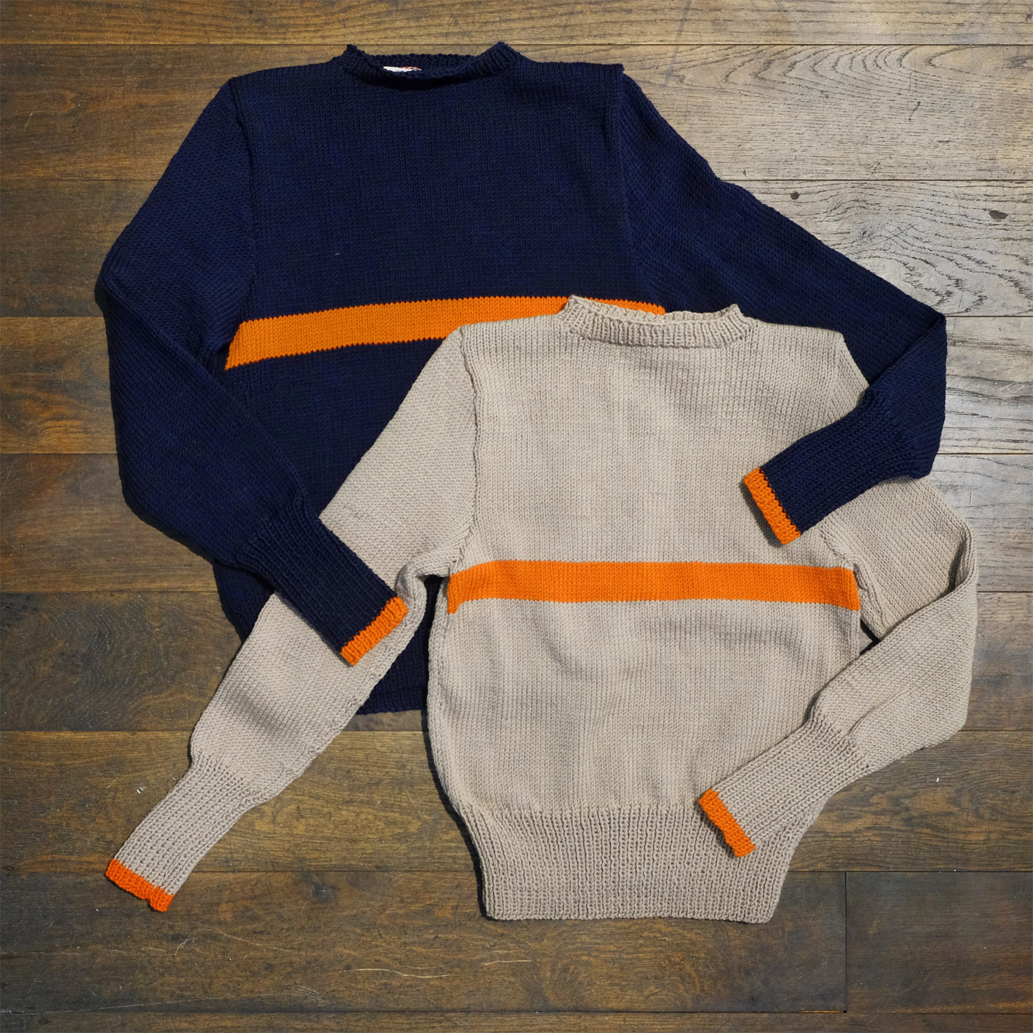 interbrigade-pullover-arbeiter-navy-kit-grau-streifen-orange