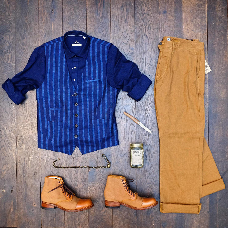 outfit-abcl-japan-hemd-weste-orgueil-hose-perceval-messer-odonnel-moonshine-risingsun-campboot