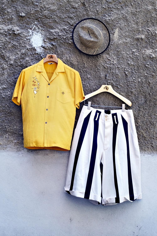 outfit-hawaiihemd-vintage-haversack-shorts-streifen-ca4la-hut-sonne-sommer