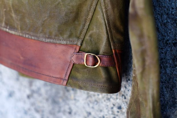 thedi-leathers-jacken-canvas-vintage-lederjacke-detail-canvas-schnalle