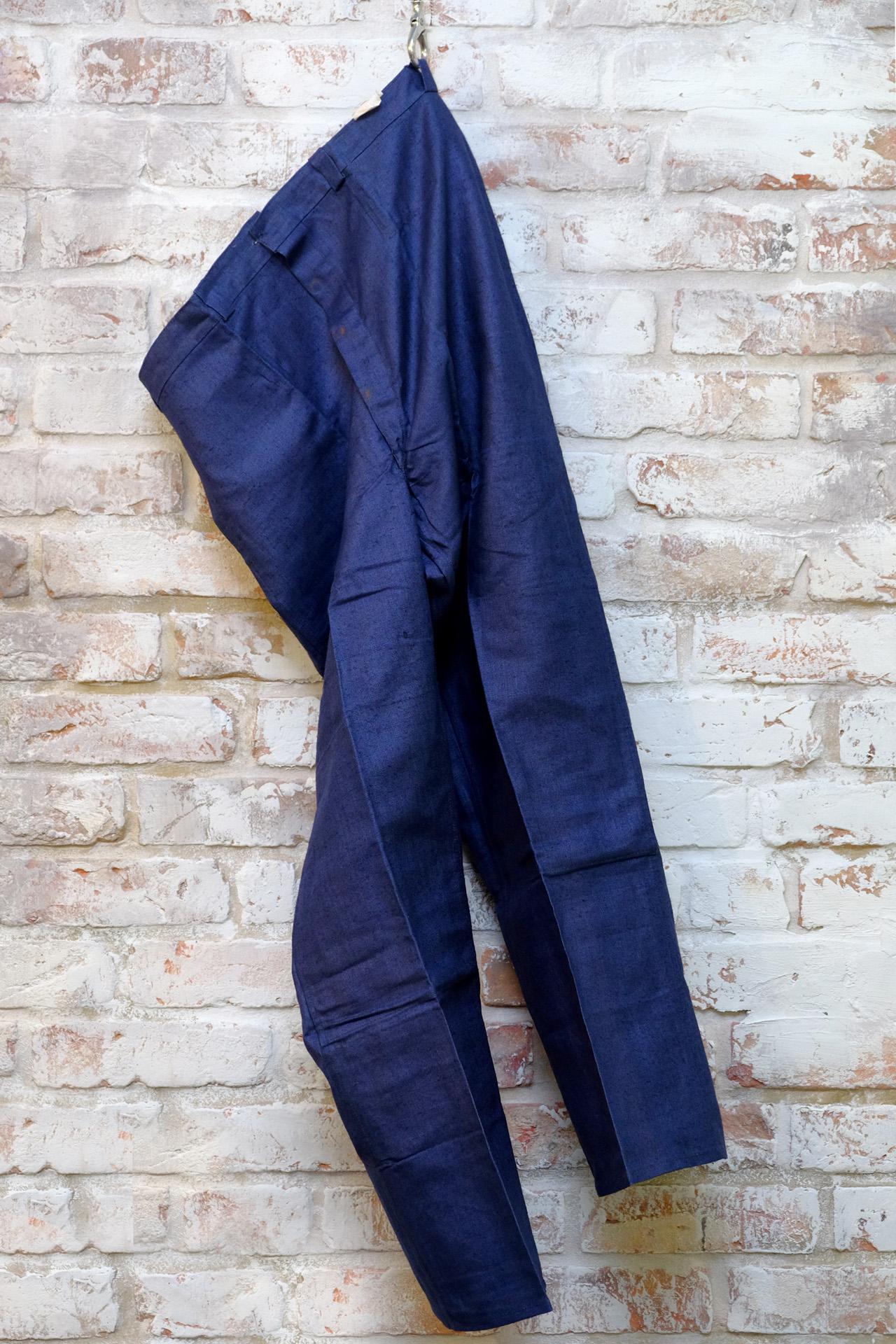arbeitshose blau dead stock hose indigo leinen vintage ein seltenes teil uwe van. Black Bedroom Furniture Sets. Home Design Ideas