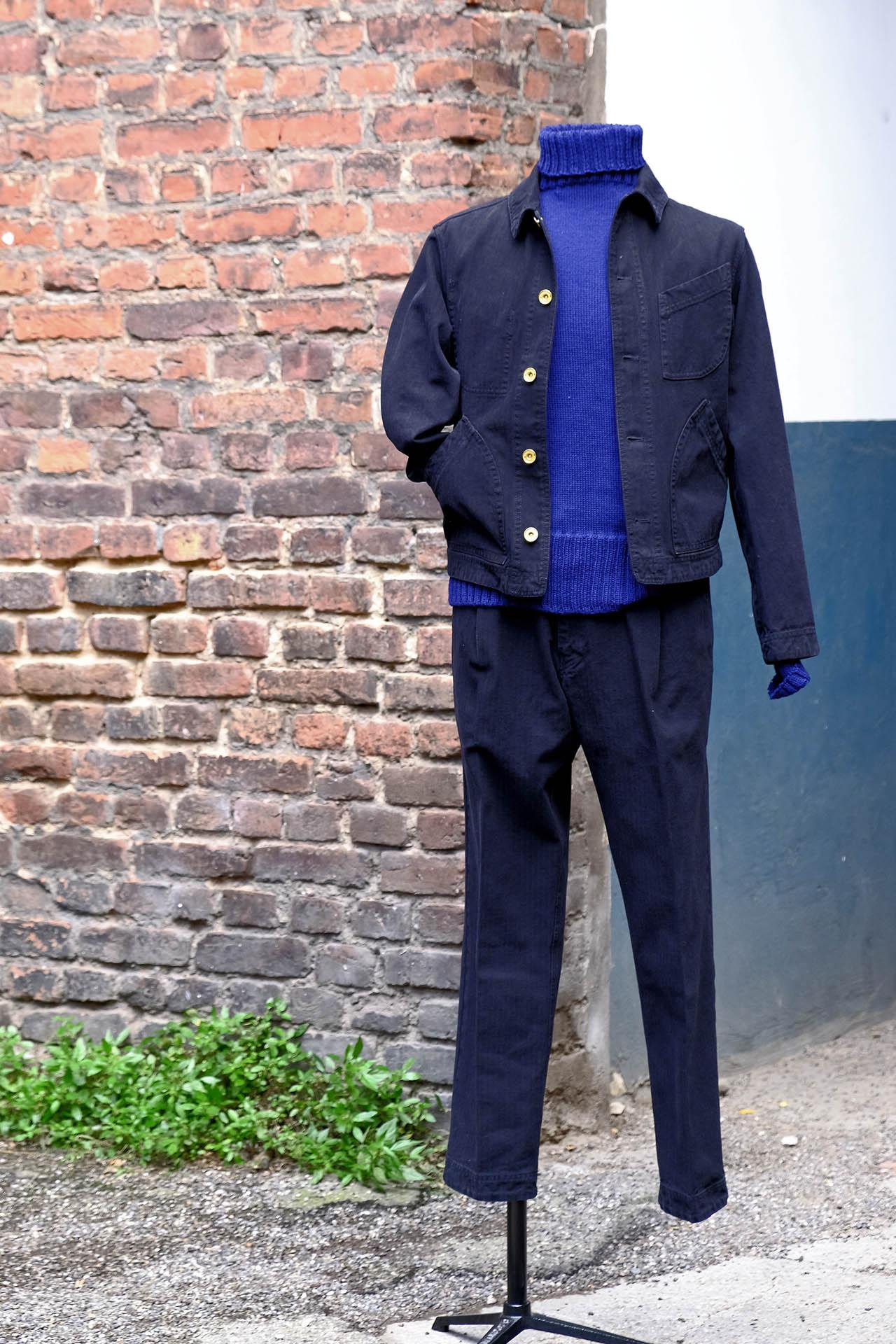 hansen-anzug-arbeiter-schwarz-herringbone-rollkragen-pullover-interbrigade