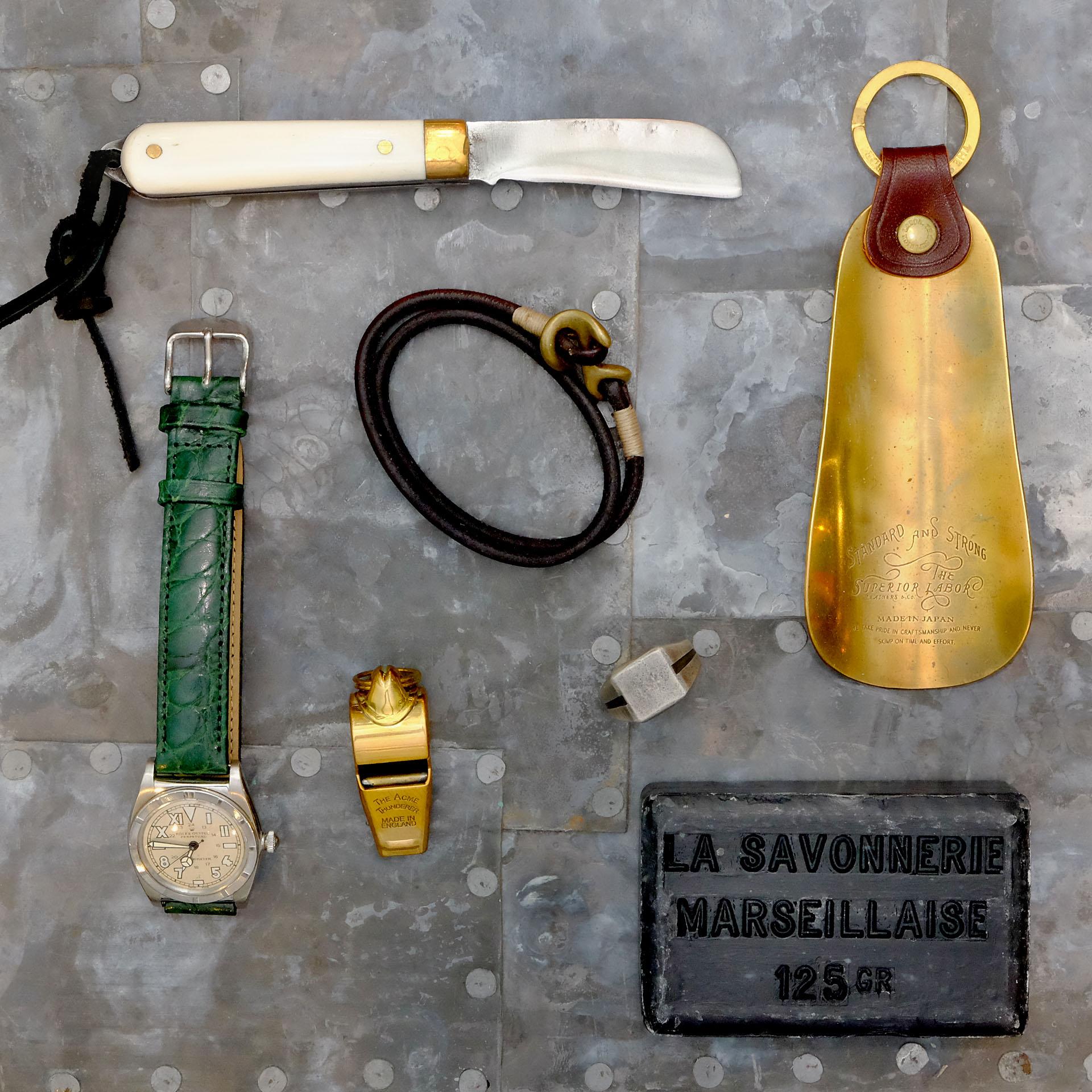 legeware-schuhloeffel-thesuperiorlabor-vintage-rolex-maxpoglia-taschenmesser-timelessleather-armband-trillerpfeile-acmethunder-877workshop-thewoods-seife