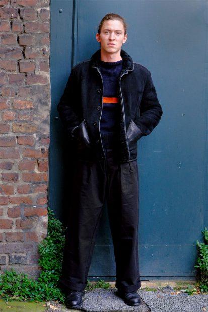 youmustcreate-ymc-lammfell-jacke-lederjacke-pullover-interbrigade-hose-schwarz-kushnir-pants