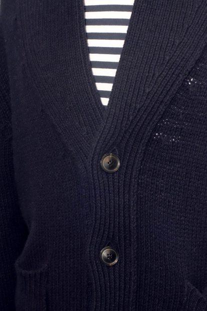 aragona-strickjacke-wolle-strick-blau-marine-streifenshirt