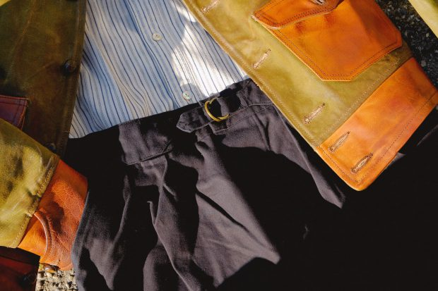 thedi-leathers-jacke-vintage-talirkushnir-pants-chino-orgueil-brand.hemd-streifen